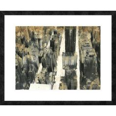 "Global Gallery 'NYC VII' by Dario Moschetta Framed Graphic Art Size: 26"" H x 32"" W x 1.5"" D"