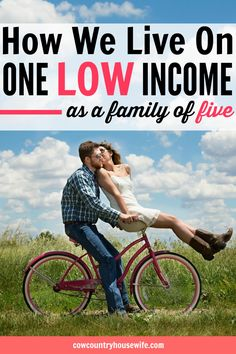How to live on one income. This family of five lives on one low income and still manages to save money and live frugally. Frugal living is easier when you have a goal. Save money, live fully. How to live on one low income.