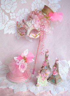 Paris French Pink Marie Masquerade Shabby Mardi Gras ...