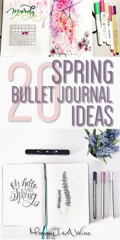 20 Spring Bullet Journal Ideas - Bullet Journal Spreads for Spring, Bullet Journal Layouts to stay organized this spring