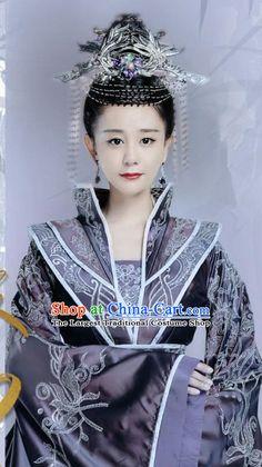 Chinese Drama Queen Dugu Northern Zhou Dynasty Empress Hanfu Dress Ancient Historical Costume and Headpiece for Women Historical Costume, Historical Clothing, Zhou Dynasty, Empress Ki, Drama Queens, Oriental Fashion, Korean Dramas, Hanfu, Traditional Dresses