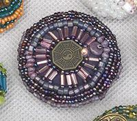How to Make Bead Embroidered Buttons - Daily Blogs @Beading Daily