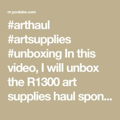 #arthaul #artsupplies #unboxing In this video, I will unbox the R1300 art supplies haul sponsored by my local art store: PNA South Africa. Find out what's i... Art Store, Art Supplies, South Africa