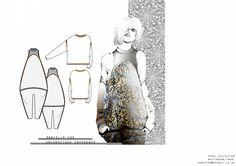 Fashion Portfolio - fashion design drawings; fashion sketchbook layout // Danielle Coe