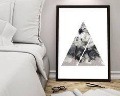 Geometric Poster, Geometric Prints, Geometric Art, Minimalist Poster, Modern, Zen, Boho, Prints, Art, Posters, Downloadable Prints, Wall Art Stunning abstract art overlaid with a geometric triangular design. This piece will infuse a harmonious, zen-like quality to any room with