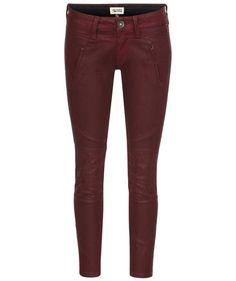 Herbstlich Tommy Hilfiger Biker Jeans #fall #fashion #trends #winered
