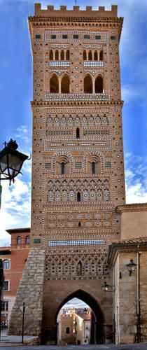SPAIN / MUDÉJAR Style - Mudéjar style: a symbiosis of techniques and ways of understanding architecture resulting from Muslim and Christian cultures living side by side, emerged as an architectural style in the 12th century on the Iberian peninsula...Mudejar Architecture of Aragon, Spain