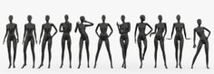 slim female mannequins 3d max - Female mannequins set 2... by Visualshop