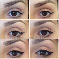 Best and my favorite eyeliner in black tutorial pictorial step by ...