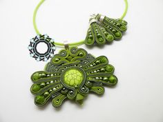 soutache earrings and pendant / wisiorek i kolczyki soutache Alina Tyro-Niezgoda Tender December