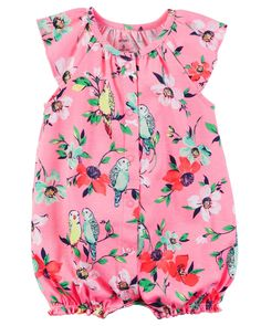 d183a36b4 Baby Girl Snap-Up Cotton Romper from Carters.com. Shop clothing  amp