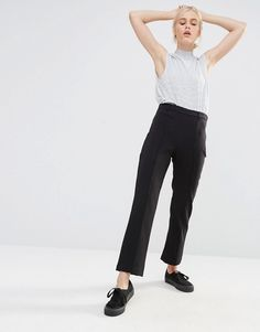 Monki Tailored Slim Leg Pant At first I was a bit skeptical to pants like these but after I purchased my first pair about one year ago I've never regret it. They are so comfy and I love the businesses vibe. It'a simply a must-have!