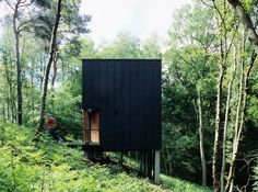 Forest Pavillion Near Bruxelles by Stekke+Fraas Architects Small Modern Home, Modern Tiny House, Modern Architecture House, Architecture Design, Futuristic Architecture, Urban Loft, Exterior Cladding, Forest House, Loft Design