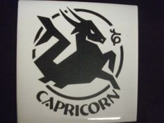 Capricorn  Etched Zodiac symbol by SomeLikeItEtched on Etsy