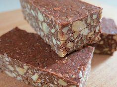 Raw/ Vegan/ Paleo cocoa protein squares.