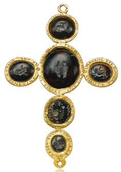 Italian, 16th century, Pectoral cross set with intaglios with signs of the zodiac. Photo courtesy Sotheby's