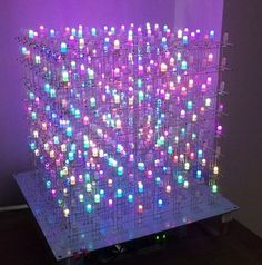 Make an Arduino Mega RGB LED Cube for awesome visuals! Make an Arduino Mega RGB LED Cube for awesome visuals! Diy Electronics, Electronics Projects, Stem Projects, Projects To Try, Arduino Programming, Arduino Led, Light Art, Smart Tv, Cube