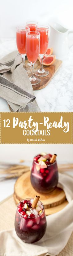 12 Party-Ready Cocktails to Help Ring in the New Year Frozen Drink Recipes, Sangria Recipes, Beer Recipes, Drinks Alcohol Recipes, Margarita Recipes, Punch Recipes, Fall Recipes, Smoothie Recipes, Smoothies