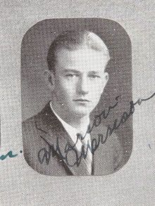 John Wayne Signed Yearbook.