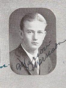 John Wayne Signed Yearbook.