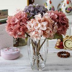 Flower Wall Wedding, Garden Party Wedding, Flower Bouquet Wedding, Hydrangea Bouquet, Silk Flower Bouquets, Silk Hydrangea, Plastic Flowers, Fake Flowers, Flower Decorations
