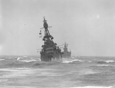 USS Louisville and USS San Francisco operating in the Bering Sea, May 1943.