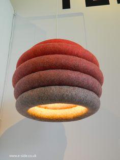Up Lamp, Felt Lighting, by Spalvieri & Del Ciotto, for Tumar, Handcraft lighting, from Kyrgyz Republic,