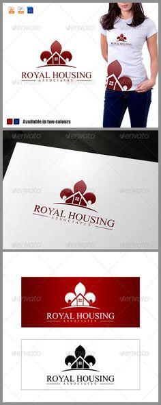 Royal Housing Associates Logo by Nasirktk Features : - File Types: AI, EPS , PSD- Colour Versions: Normal colour , Gray & Invert(white)- CMYK 100 Print Ready Vectors- Edit Logo Design Template, Logo Templates, Property Logo, Building Logo, Real Estate Logo Design, Geometric Logo, Logo Maker, Home Logo, Create A Logo