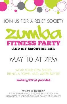 Bits of everything event flyers church pinterest event flyers zumba party stopboris Images