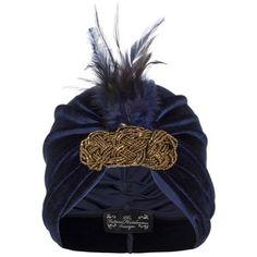 The Future Heirlooms Boutique Freya Feather Velvet Turban