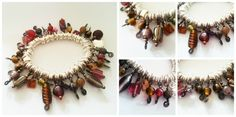 Autumn Beaded Charm Bracelet - £20 + P&P #craftfest