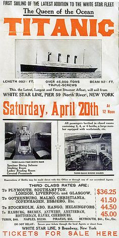 A poster to promote the Titanic's return trip from New York,scheduled for April 20,1912.