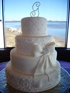elegant #wedding #cake!