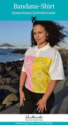 Shirts & Tops, Diy Mode, Shirt Bluse, Bandana, Upcycle, Saree, Pullover, Teenager, Easy