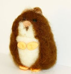 sweet tiny Hamster needle felted miniature small by nutkaart