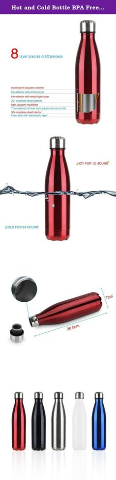 Hot and Cold Bottle BPA Free and Leak Proof Double Wall Vacuum Insulated Stainless Steel Water Bottle. Big Sale 12 Days of Deals for Christmas Day Specification : ◆Product name: Vacuum Water Bottle ◆Color: black, blue, red, silver, white ◆Weight: 400g ◆Capacity: 500ml/17 ounces ◆Height (with cap):10.4 inch ◆Diameter (cap/bottom): 2.8inch,1.2inch ◆Material: Stainless Steel Feature: * 500ml/17 oz bottle * Personally engraved * Double wall, stainless steel inner and outer * Vacuum insulated…
