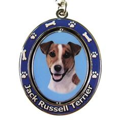 Jack Russell Terrier Dog Spinning Keychain
