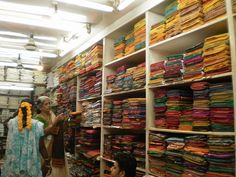 sari shop, chennai india - except I shopped for them in Kavali, India