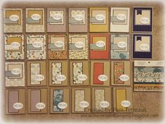 "26 ""MISS YOU"" cards from a MME Come Away With Me 6 x 6 paper Pad *w/Measurements"