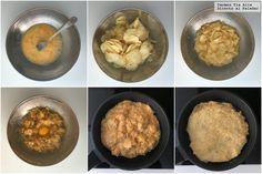 Tortilla de patatas con patatas fritas de bolsa. Receta de cocina fácil, sencilla y d