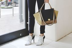Narciso Rodriguez booties and Céline bag