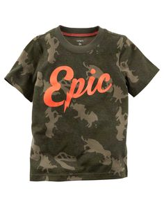 Kid Boy Epic Graphic Tee from Carters.com. Shop clothing & accessories from a trusted name in kids, toddlers, and baby clothes.