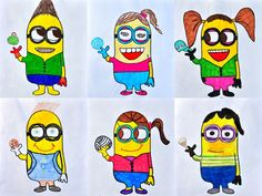 Minion Avatar - 5th or 6th grade art (art lesson idea project)