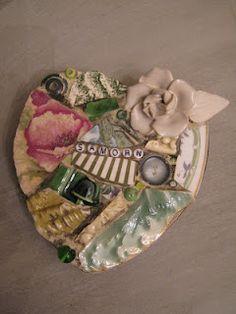 Custom mosaic heart - mosaic art.
