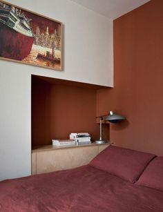 Element-s, Multidisciplinary Design Agency in Paris. terracotta wall colour. nook.