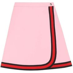 Gucci Wrap-Style Skirt (3209590 PYG) ❤ liked on Polyvore featuring skirts, bottoms, pink, pink skirt, gucci, wrap skirt, pink wrap skirt and gucci skirt