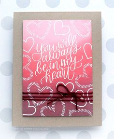 card kit NOTE: This post is sponsored by Simon Says Stamp. Hello all! Im back with some more inspiration for the February 2019 card kit! I thought some smooth blended color with images from t Wedding Card Quotes, Wedding Cards, Distress Oxides, Distress Ink, Valentine Love Cards, Valentines, Simon Says Stamp Blog, Card Sayings, Valentine's Day
