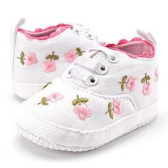 Baby Girl Shoes White Lace Floral Embroidered Soft Shoes Prewalker Walking Toddler Kids Shoes First Walkers Shoes Soft Crib. Baby Boy Shoes, Crib Shoes, Toddler Shoes, Girls Shoes, Floral Sneakers, Baby Sneakers, Pink Sneakers, Canvas Sneakers, Bordado Floral