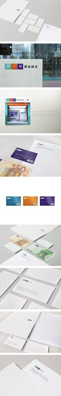 PIN bank by Evgen Rover, via Behance