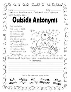 231 Best Slp Synonym Antonym Freebies Images Languages Learning